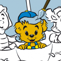 Bamse's paint book