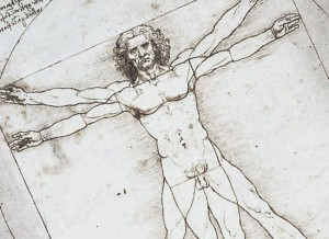 The Vitruvian Man by Leonardo da Vinci, 1492